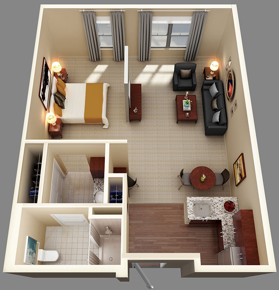 Home Design Ideas For Seniors: Assisted Living And Memory Care Suite Floor Plans