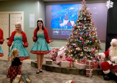 Denver Dolls and Santa