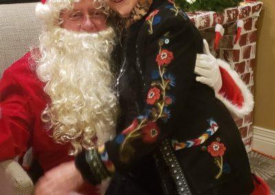 Santa and Sylvia
