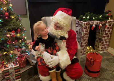 Santa and precious child