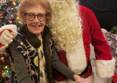 Santa and resident Mary